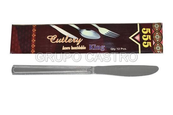 Foto de CUBIERTO ACERO SET 12 UDS 555 S-KNIFE CUTLERY KING