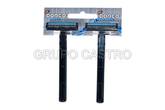 Foto de Set 2 pcs Prestobarba Desech c/lubricante TG708N-2B DORCO blister(50)(1000)