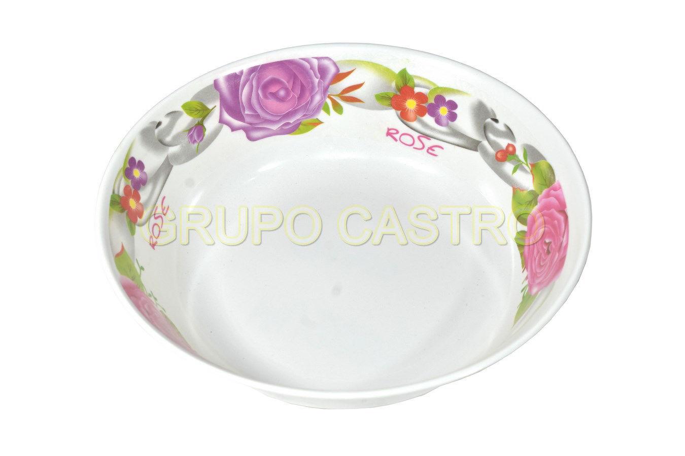 """Foto de Plato sopero melamina decorado 9"""" MU2009/1251"""
