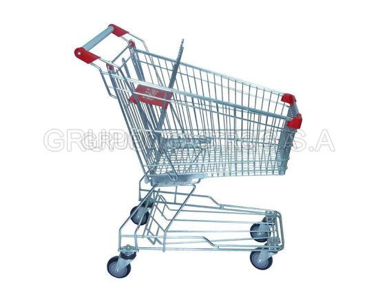 Foto de Carro Supermercado 60ltrs metal YK-CAR-4375 77LARGOX46ANCHOX94ALTO CMS