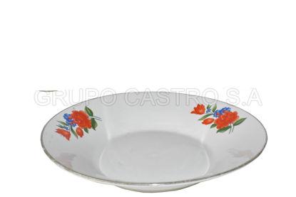 """Foto de Plato porcelana hondo decorado 9"""" H303-904"""
