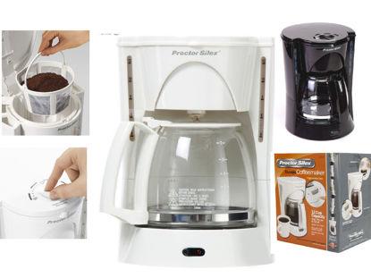Foto de Coffe Maker Proctor Silex 12tzs PS48521RY-MX Blanca jarro vidrio C/filtro permanente 120v/60hz/900w