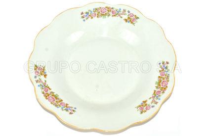 "Foto de Plato porcelana hondo decorado 8"" 8SP-5169 lotus"