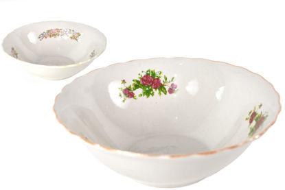 "Foto de Dulcera porcelana grande decorada 9"" 9SB-5360 lotus"