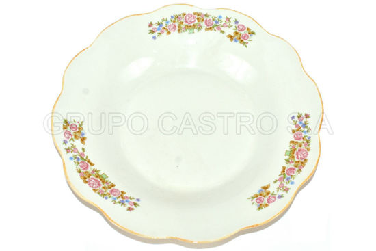 "Foto de Plato porcelana hondo decorado 9"" 9SP-5169 lotus"