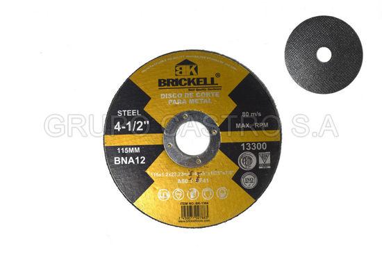 """Foto de DISCO METAL CORTE FINO 4"""" BK-1364 BRICKELL"""