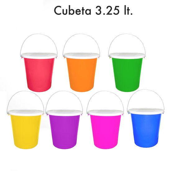 Foto de CUBETA 3.25 LTRS CON ASA METAL SALVAPLASTIC 8828000000